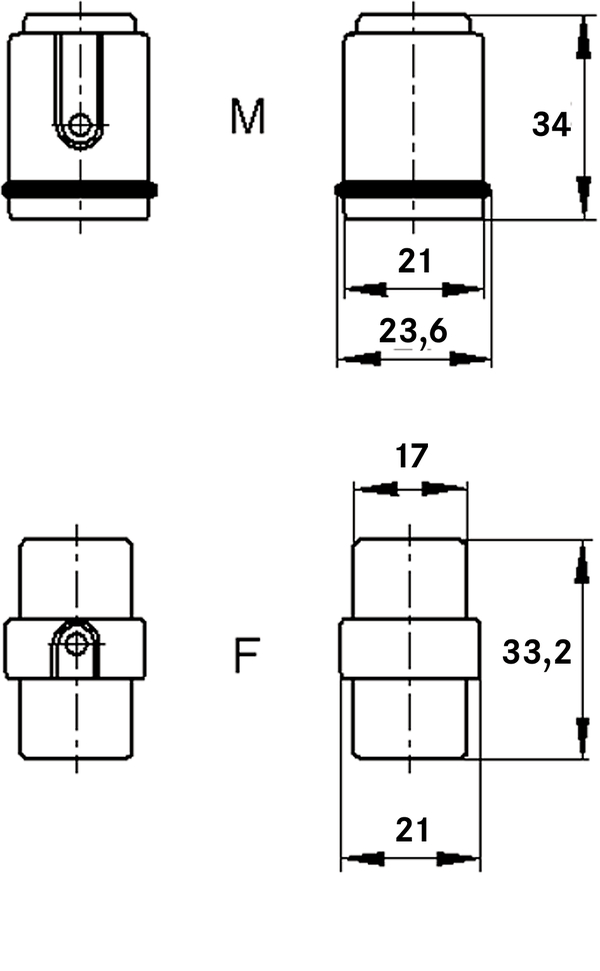 H-D 7 SCM MALE INSERT