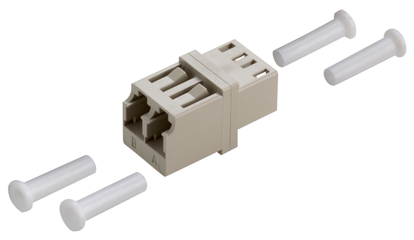 GOF Adapter Duplex LC SM BL /4PC